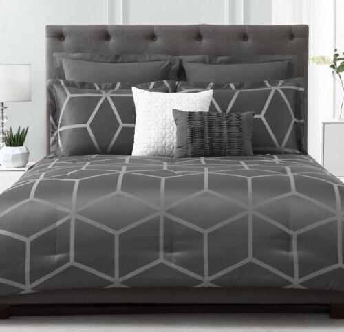 Chezmoi Collection Modern Gray Geometric Comforter