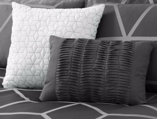 Chezmoi 5-Piece Gray Comforter