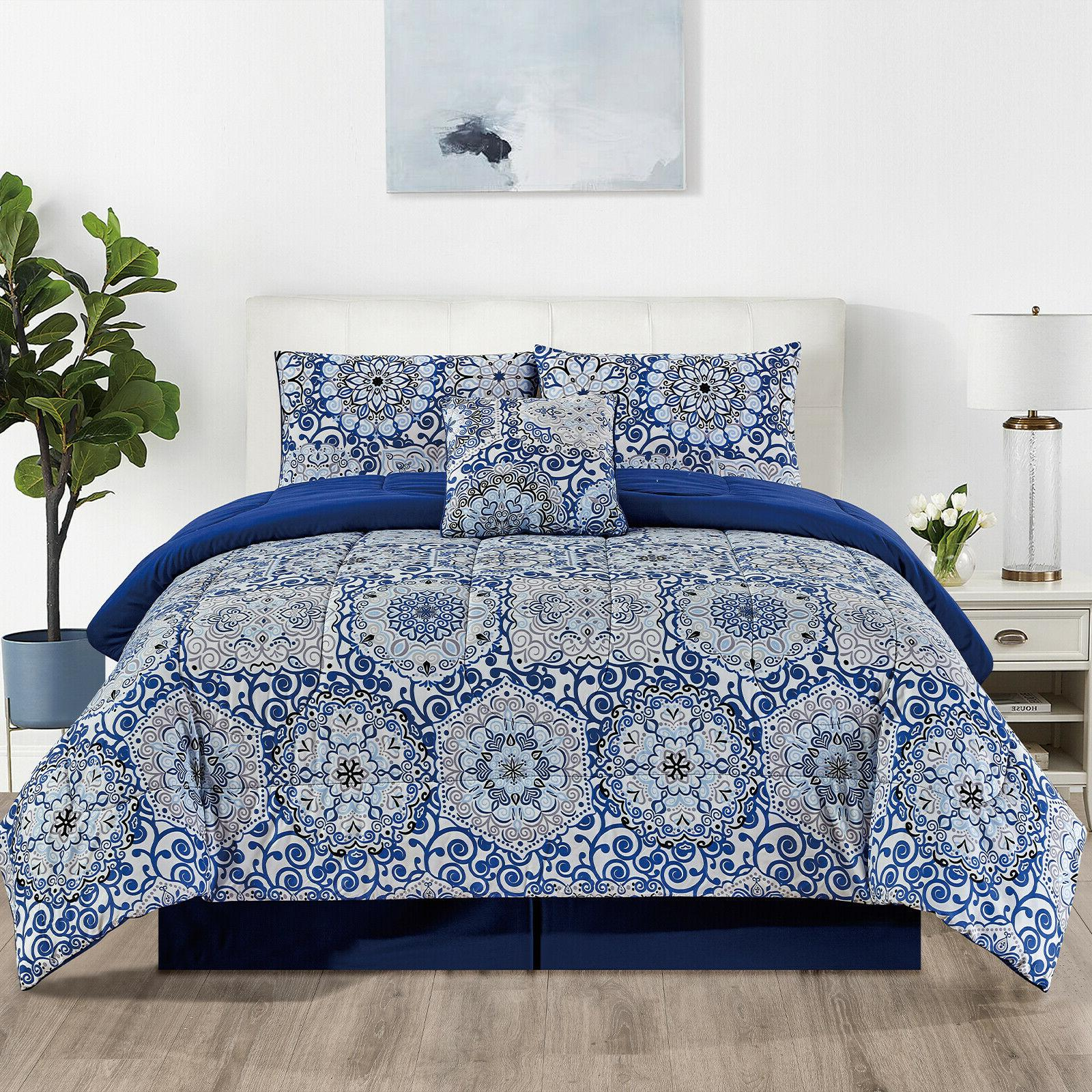 Duvet Insert 5 Piece Reversible Comforter Set Ultra Soft Mic
