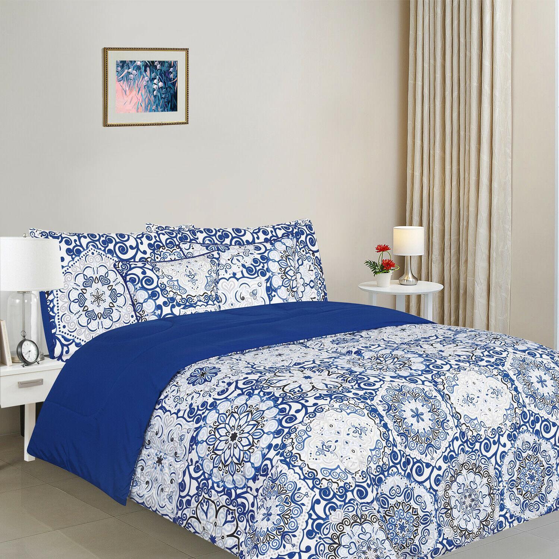 5 Piece Reversible Comforter Set Ultra Soft Duvet Insert Mic