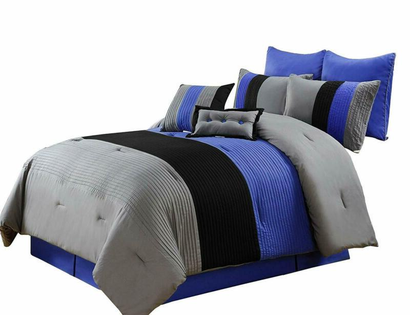 Chezmoi Collection 6 Piece Down Alternative Comforter Luxury