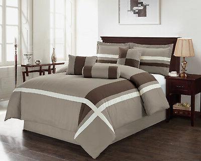 Hillsbro 7 piece Bernard Gery Soft Comforter Set King Size P