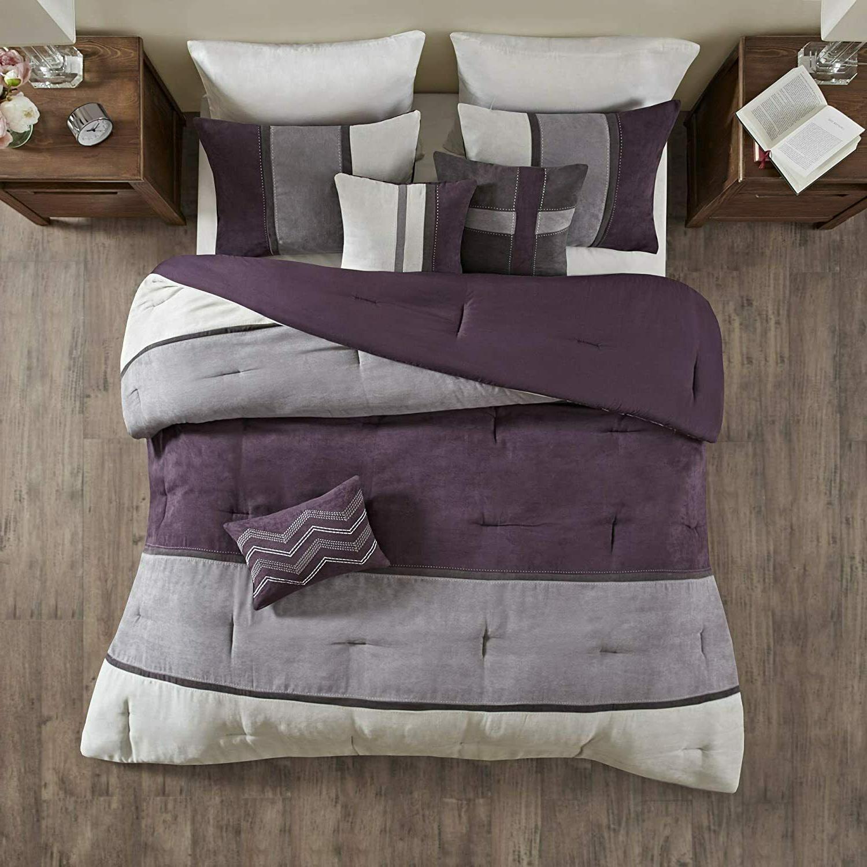 Microsuede Comforter Bed Skirt Decorative Beddings 7