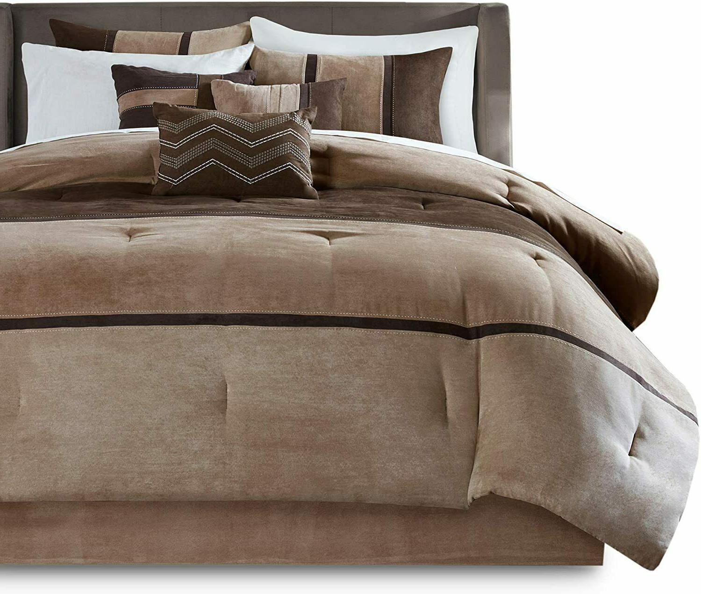 Microsuede Comforter Shams Skirt Decorative Beddings