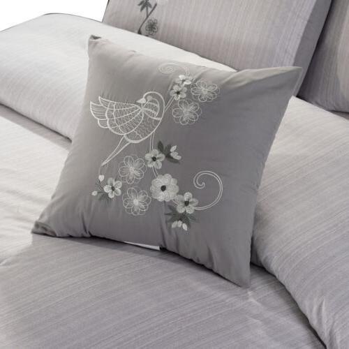 Chezmoi Collection Luxurious Floral Comforter Set