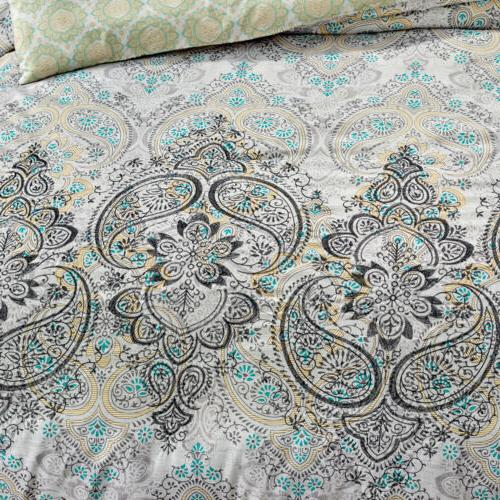 Chezmoi 7-Piece Scroll Embroidery Comforter Set