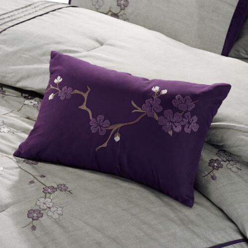 Chezmoi 7pc Cherry Blossoms Comforter Set