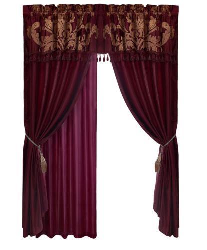 Chezmoi Collection 7-Piece Jacquard Floral Comforter