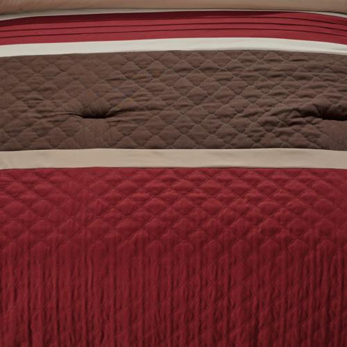Chezmoi Quilted Striped Comforter