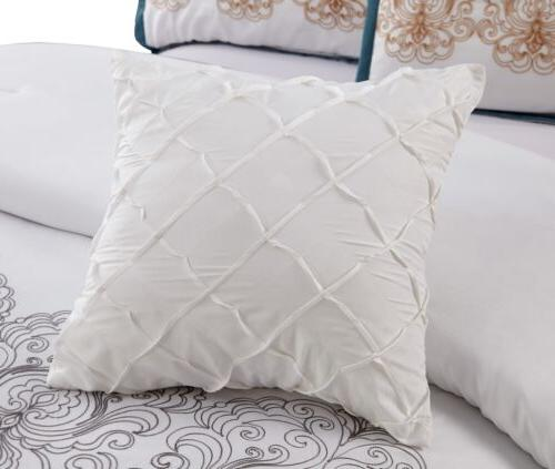 Chezmoi Collection Embroidered Comforter