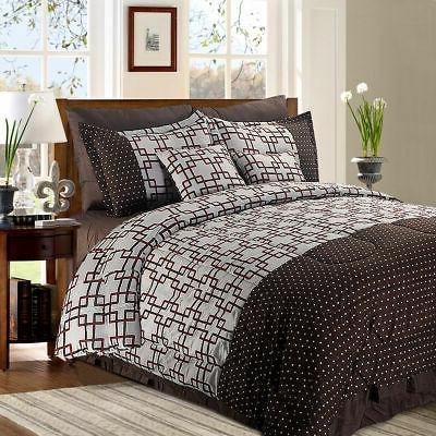 8 2 piece luxury plaid bedding comforter