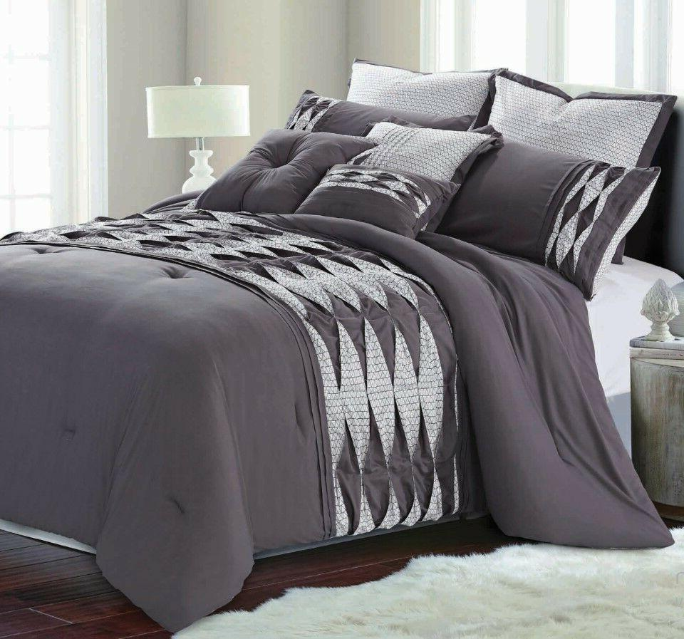 8 Piece Comforter Set Bedding Hotel Soft Luxury Over Sized R