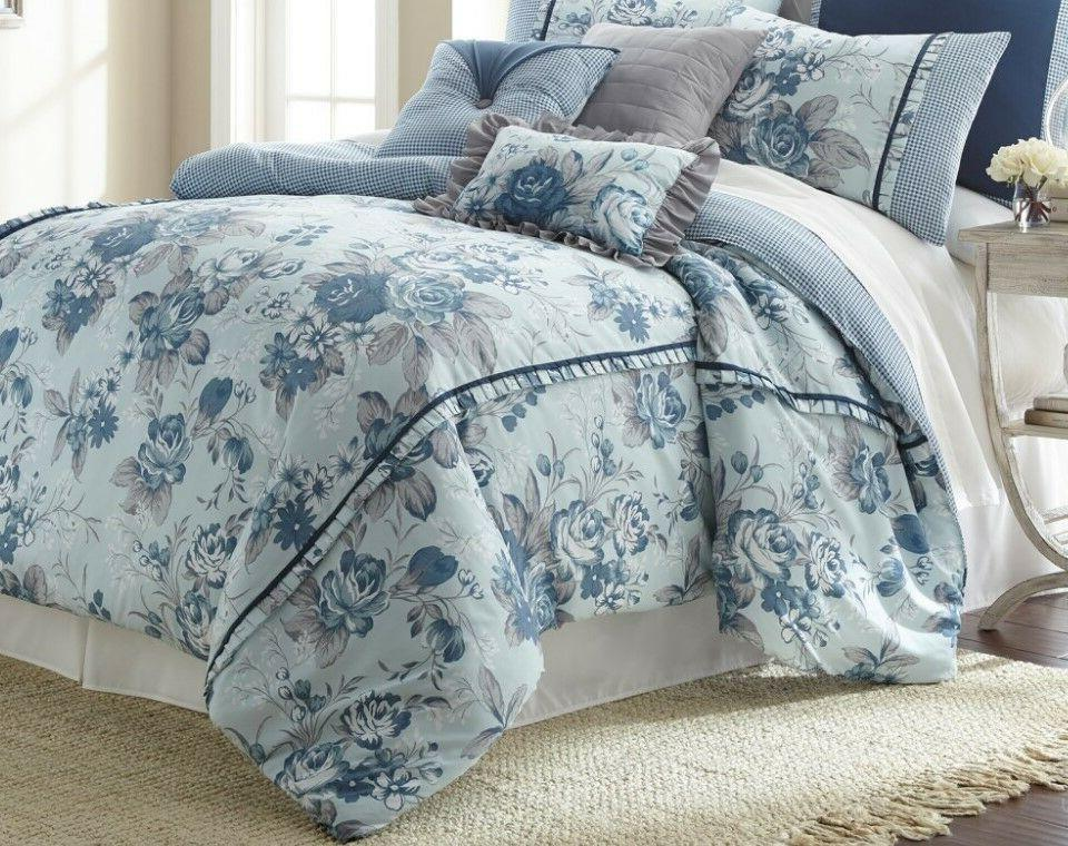 8 Piece Bedding Elegant Floral FarmHouse