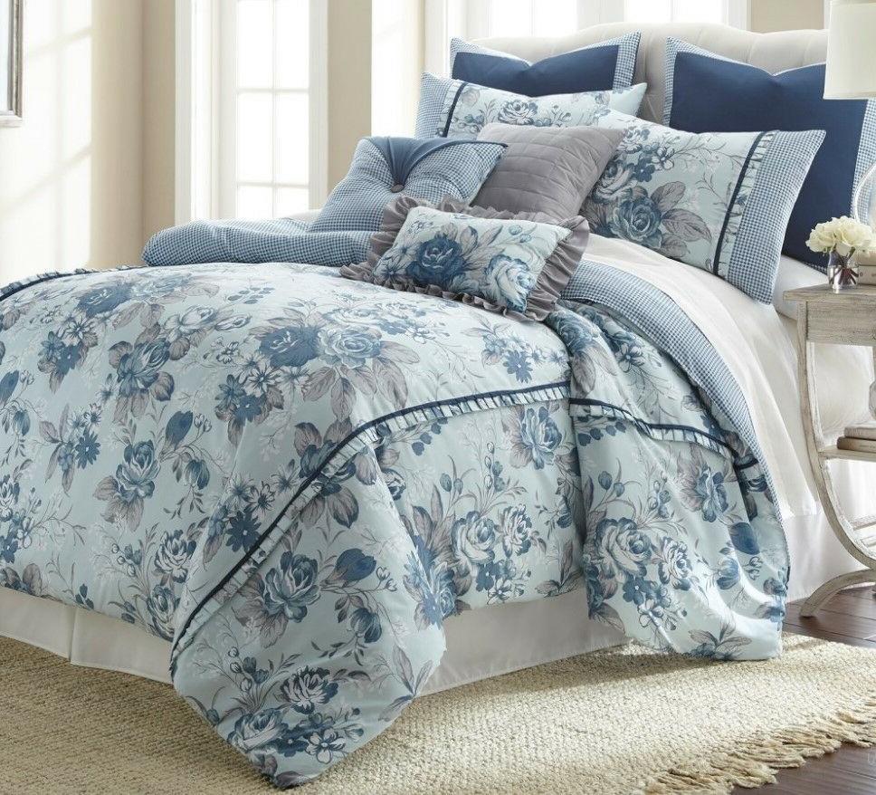 8 Piece Bedding Reversible Floral FarmHouse