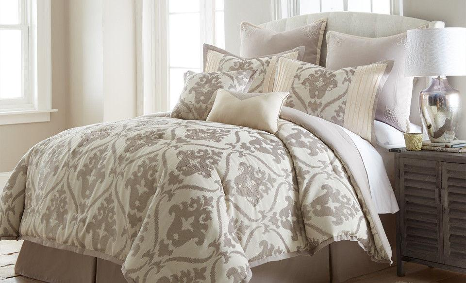 8 Piece Comforter Set Bedding Soft Elegant Microfiber Warm B