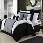 Chic Home 8-Piece Embroidery Comforter Set King Livingston B