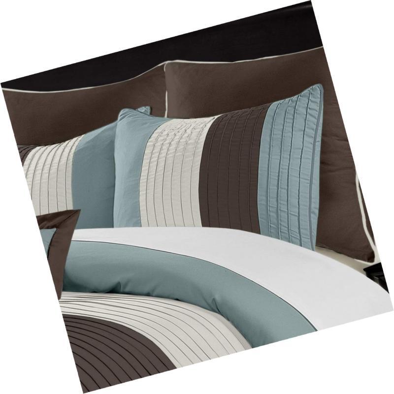 Chezmoi Collection 8-Piece Striped Set Queen
