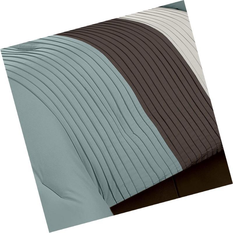 Chezmoi Collection Luxury Striped Comforter Queen