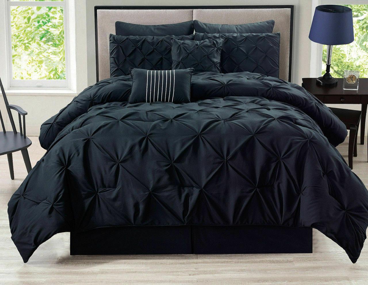 8-Piece-Rochelle-Pinched-Pleat-Comforter-Set