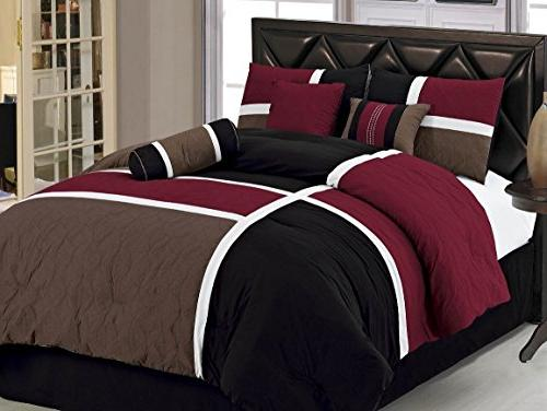 Chezmoi Collection Quilted Patchwork Comforter Queen,