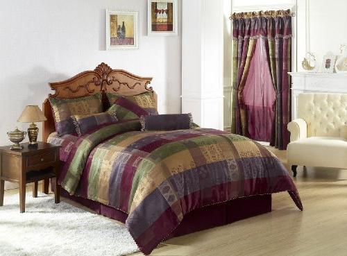 Chezmoi Collection Gitano Jacquard Patchwork 7-Piece Bedding