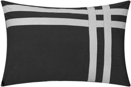 Chic Home Zarah Piece Comforter with Sheet Set and Pillows Shams Queen Grey