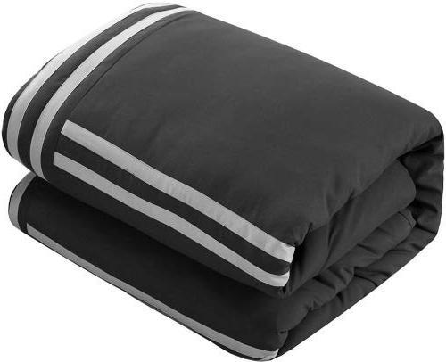 Chic Piece Sheet Set Pillows Queen Grey