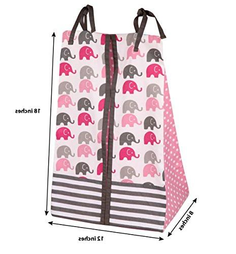 Elephants Pink/Grey 10 crib set Bumper Pad