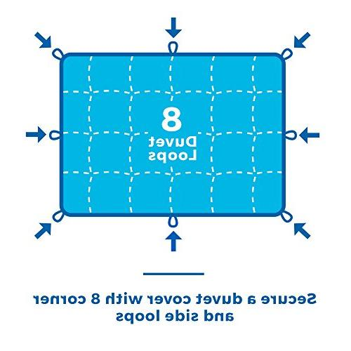 Alternative Quilted Corner Tabs - Hypoallergenic - Fill - - Stand-Alone Comforter - Queen