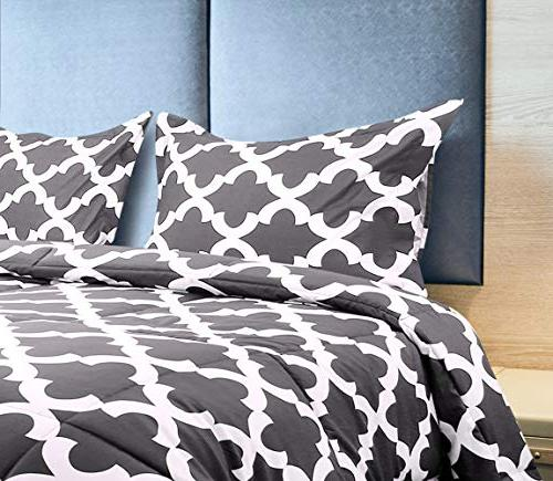 Utopia Printed Set 2 Pillow Shams - Microfiber Goose Alternative Comforter Soft and Comfortable Machine Washable