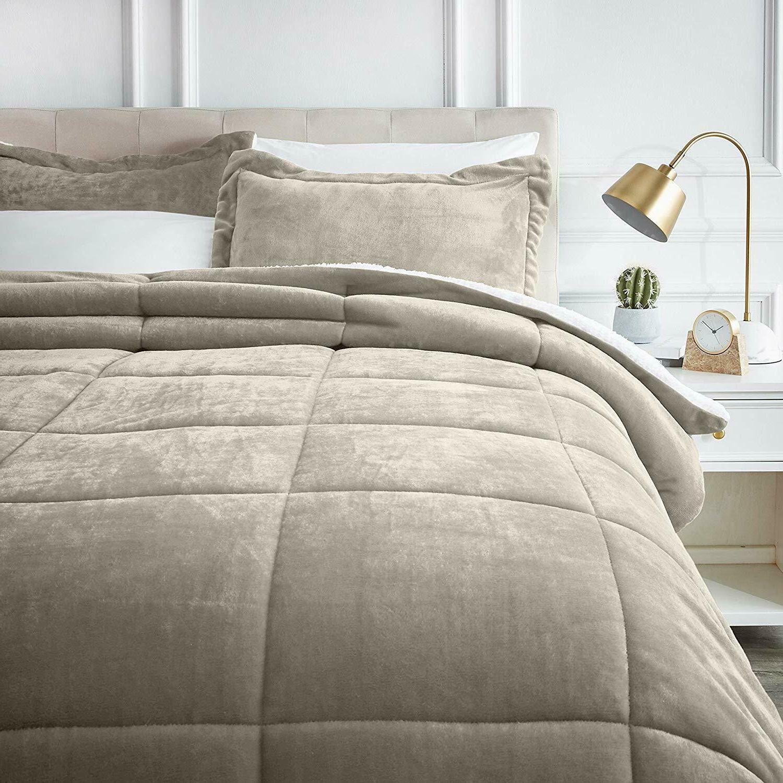 AmazonBasics Comforter Set - Ultra-Soft, Fray-Resistant -