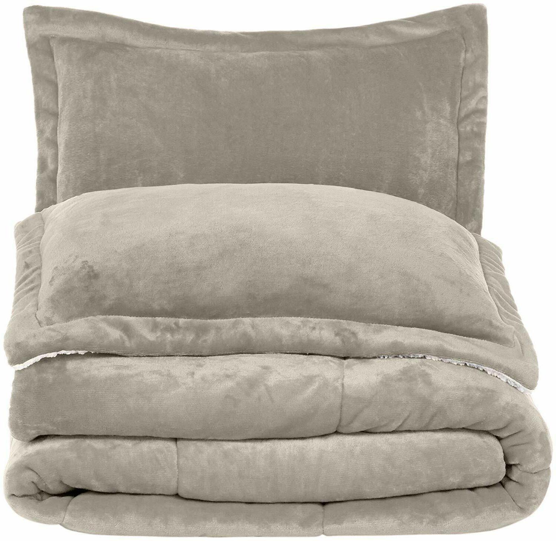 AmazonBasics Micromink Comforter Set - Fray-Resistant -