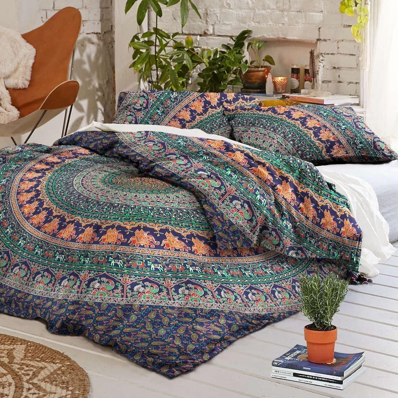 Animals Mandala Duvet Cover Comforter &Pillow Case Hippie Bo