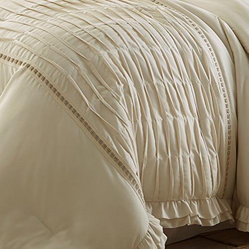 Amrapur Overseas Antonella Pleated Comforter Beige