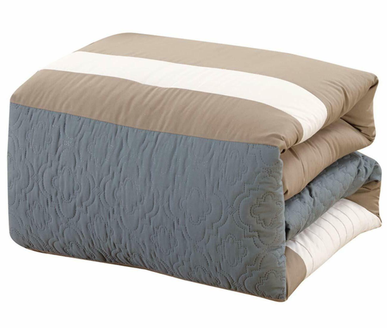 Bed Bag Luxury Striped Grey