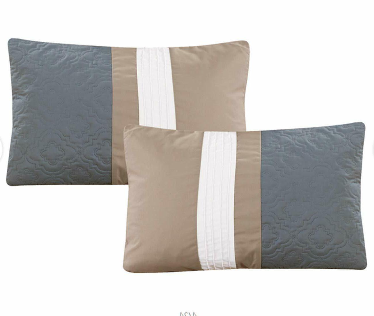 Bed Bag Striped 7 Set, Grey