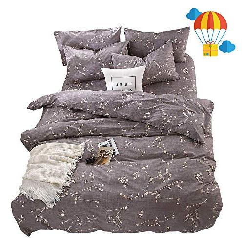 bedding constellation print queen quilt