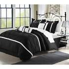 CHIC HOME BEDDING VERMONT BLACK 8 PIECE COMFORTER SET BED IN