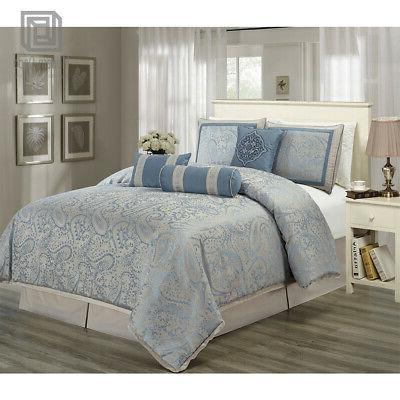 bedroom comforter set king size 7pcs soft