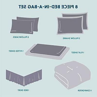 Bedsure 8 A Bag Stripes Seersucker Ultra-S
