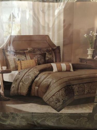 bellagio queen comforter set 7 pc bedding
