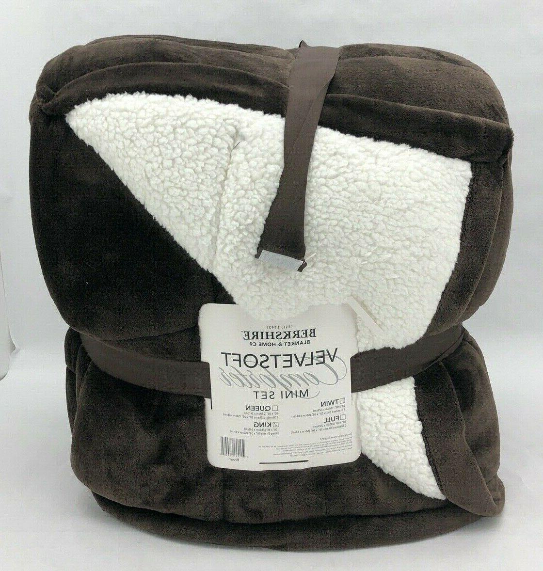 berkshire comforter sherpa set velvetsoft king 2