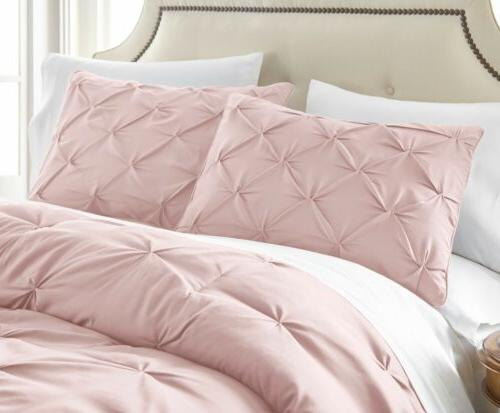 Chezmoi Collection Pleat Pintuck Bedding Set All