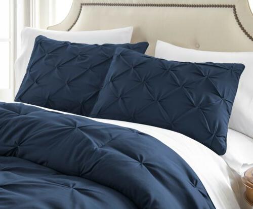 Chezmoi Collection Berlin Pleat Pintuck Comforter Set Sizes