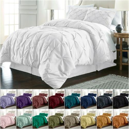 berlin pinch pleat pintuck bedding comforter set