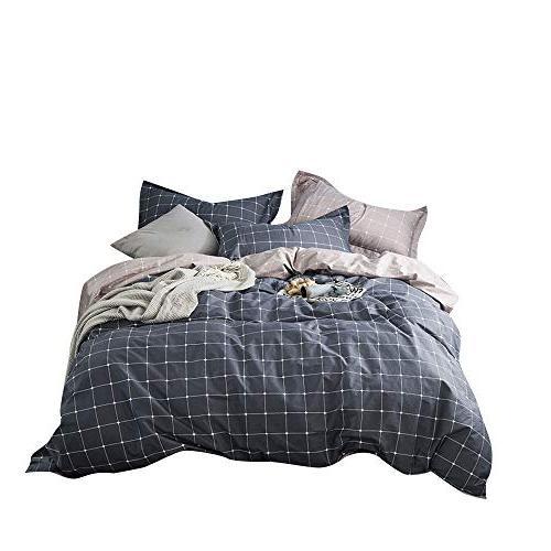 black plaid duvet quilt cover