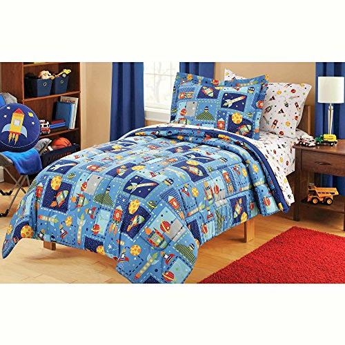 boy blue space bed a