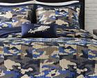 Boys Blue Camo 4-PC Comforter Set FULL-QUEEN Polyester Camof
