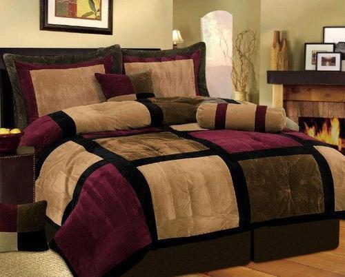 burgundy brown black bed a