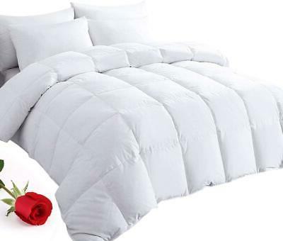 Cal-King Lightweight Comforter Duvet Duck Down Filling